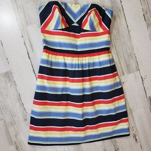 Vineyard Vines striped strapless short mini dress